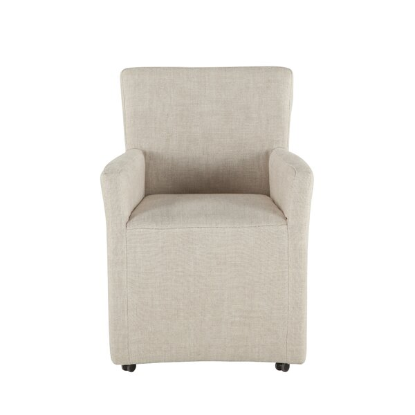 Ryley Linen Upholstered Arm Chair in Off-White by Darby Home Co Darby Home Co