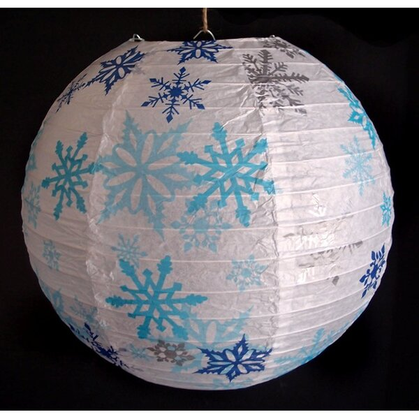 Snowflake Christmas Holiday Paper Lantern by The Paper Lantern Store