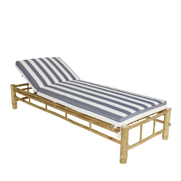 Irving Bamboo Adjustable Reclining Chaise Lounge with Cushion by Bay Isle Home