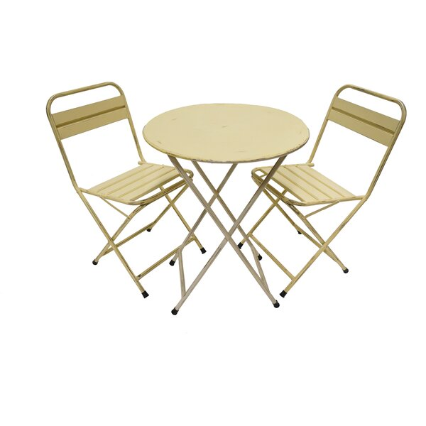 Odin Rustic Folding 3 Piece Bistro Set by Williston Forge