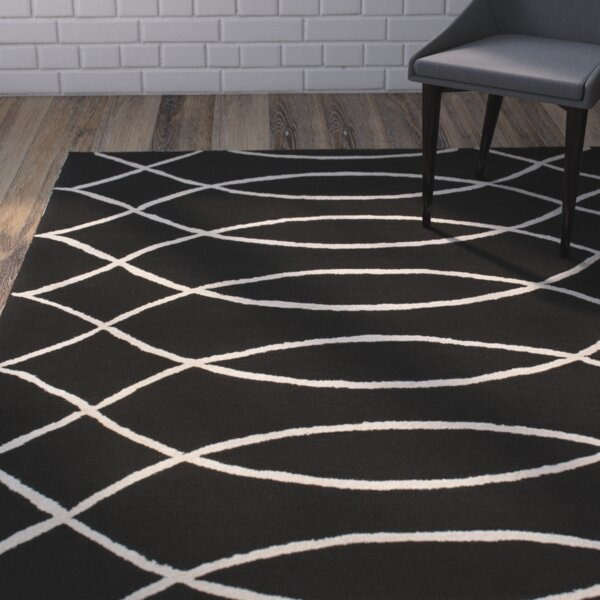 Summers Black Indoor/Outdoor Area Rug by Mercury Row
