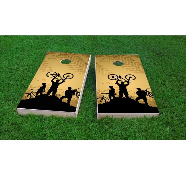 Mountain Biking Cornhole Game Set by Custom Cornhole Boards