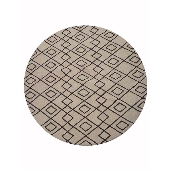 Cheswick Geometric Hand-Tufted Wool Cream/Brown Area Rug by Foundry Select