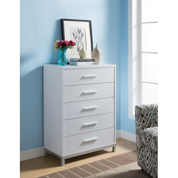 Concorde Utility 5 Drawer Chest by Ebern Designs