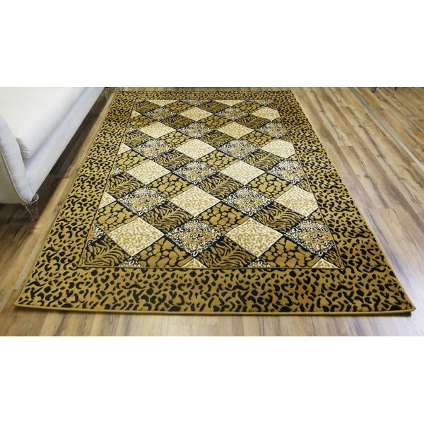 Elif/Passion Gold Area Rug by Bekmez International Inc.