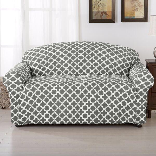 Brenna Box Cushion Loveseat Slipcover by Home Fash