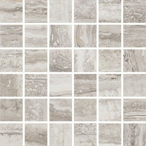 San Giulio 12 x 12 Ceramic Mosaic Tile in Piazza Silver by Interceramic