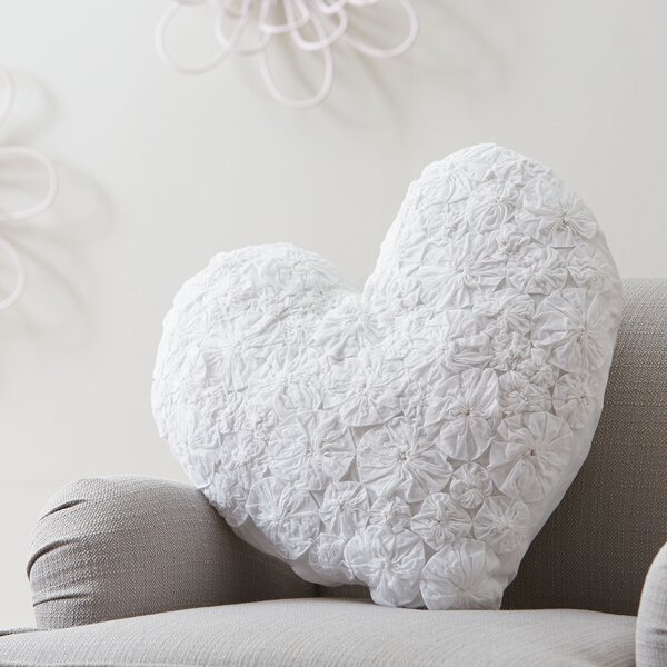 Textured Heart Pillow by Birch Lane Kids™