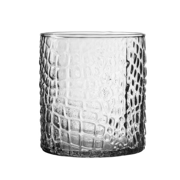 Bistro Croc Old Fashion Glass Cocktail Glass (Set of 4) by Elle Decor