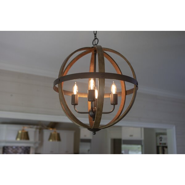 Gateshead 4-Light Globe Chandelier by Williston Fo