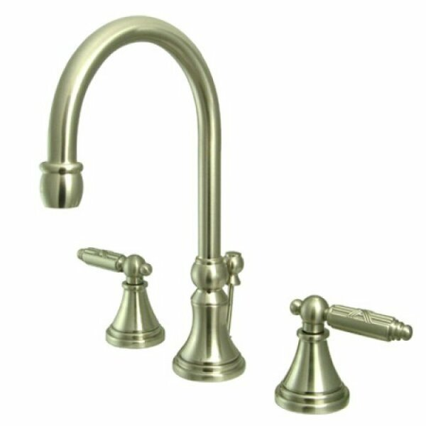 Governor Widespread Bathroom Faucet with Drain Assembly by Kingston Brass