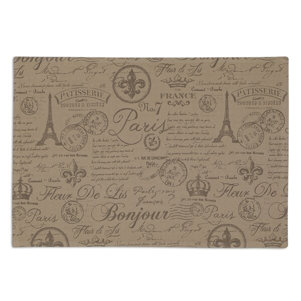 Chartres French Flourish Printed Placemat (Set of 6) by One Allium Way