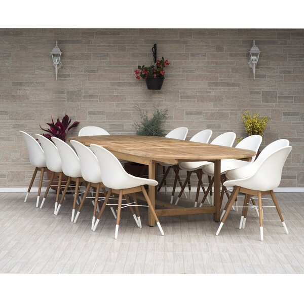Woolford 13 Piece Teak Dining Set by Corrigan Studio