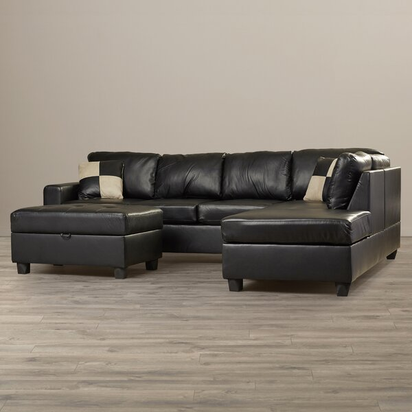 Best #1 Corporate Reversible Sectional With Ottoman By Andover Mills Best Choices