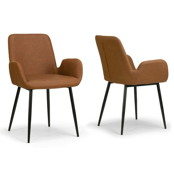 Milana Upholstered Dining Chair (Set of 2) by Wrought Studio
