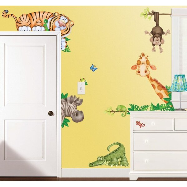 In the Jungle Super Jumbo Appliqué Wall Decal by Borders Unlimited