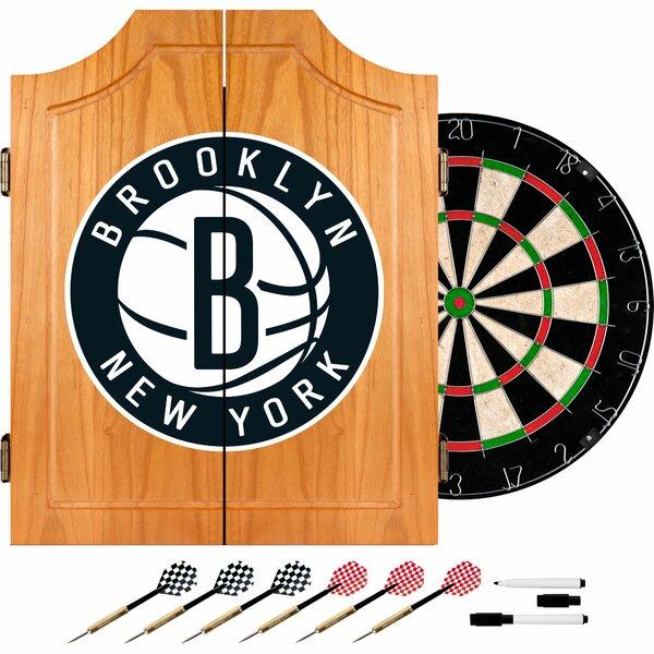 Nba Wood Dart Cabinet Set By Trademark Global.