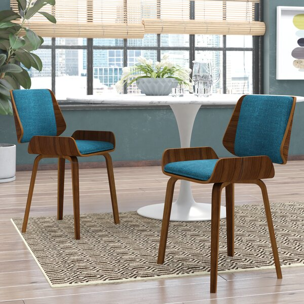 Burney Upholstered Dining Chair (Set of 2) by Wade Logan Wade Logan