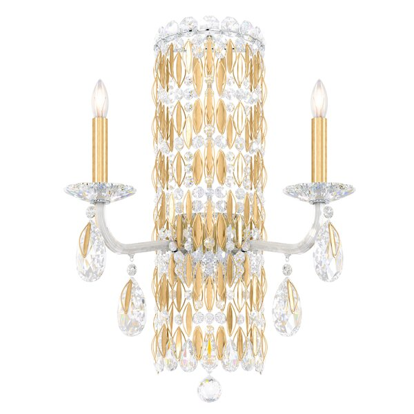 Sarella 2-Light Candle Wall Light by Schonbek