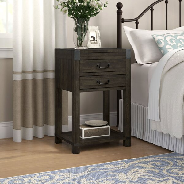 Calila 2 Drawer Nightstand by Foundry Select