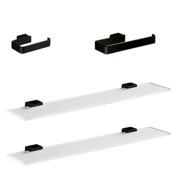 Lounge 4 Piece Bathroom Hardware Set by Gedy by Nameeks