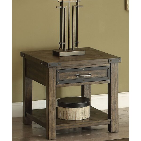 Willey End Table with Storage by Andrew Home Studio