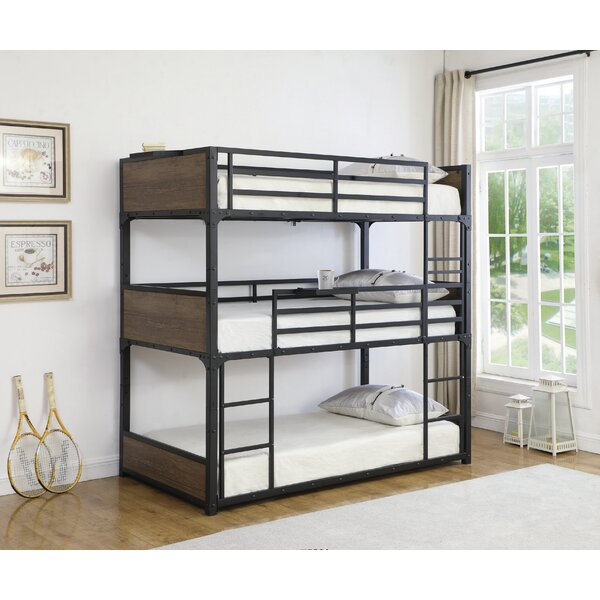 Marcoux Twin Over Twin Over Twin Triple Bed by Harriet Bee