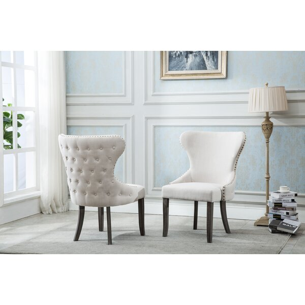 Shackelford Upholstered Dining Chair (Set of 2) by Gracie Oaks Gracie Oaks