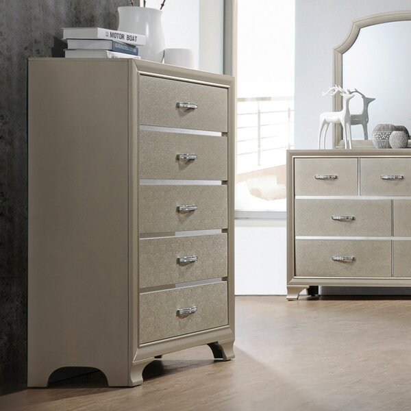 Harbin 5 Drawer Chest by House of Hampton