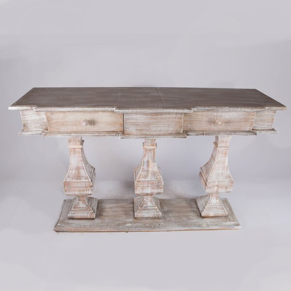 Reviews Jarrow 57.5 Solid Wood Console Table by One Allium Way