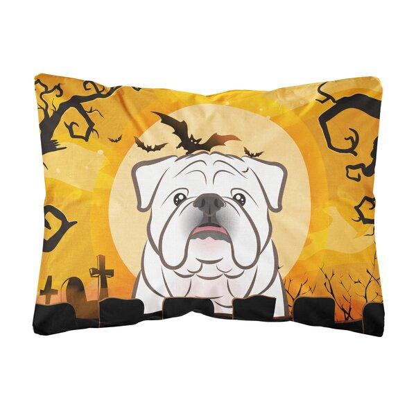 Jewett Halloween English Bulldog Fabric Indoor/Outdoor Throw Pillow by The Holiday Aisle