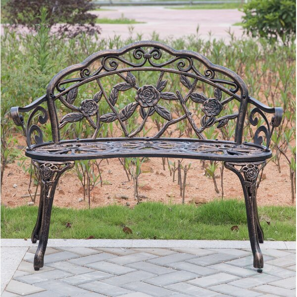 Stratton Steel Garden Bench by Fleur De Lis Living