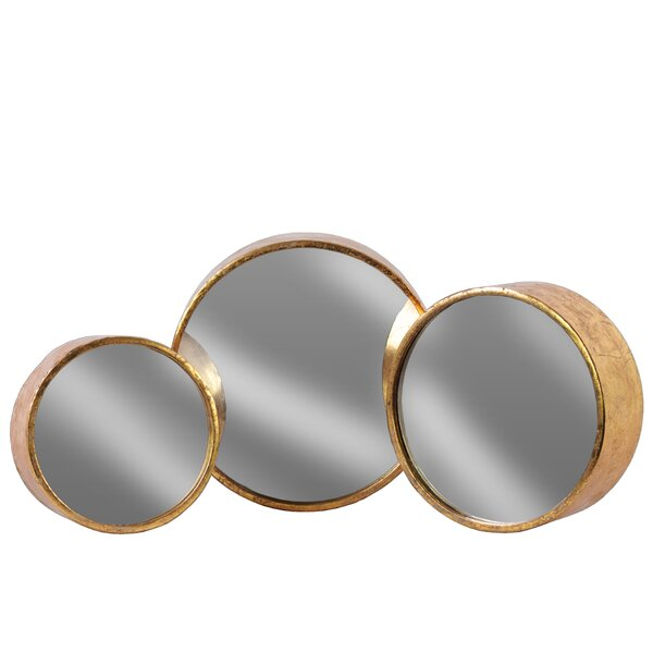 3 Piece Round Wall Mirror Set by Urban Trends