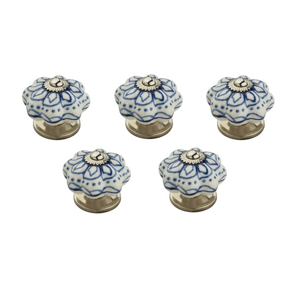 Flowerd Round Knob (Set of 5) by Mascot Hardware