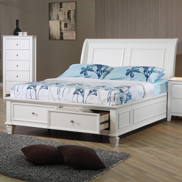 Lindamere Storage Sleigh Bed By Breakwater Bay