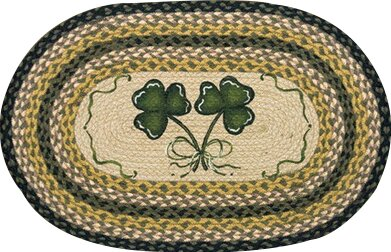 Shamrock Printed Area Rug by Earth Rugs