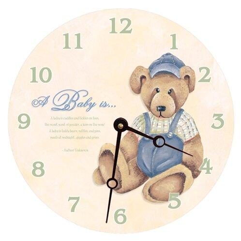 10 Baby Bear Wall Clock by Lexington Studios
