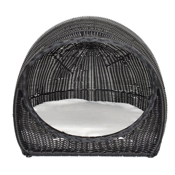 Slagelse Wicker Igloo Hooded Bed with Cushion by Tucker Murphy Pet