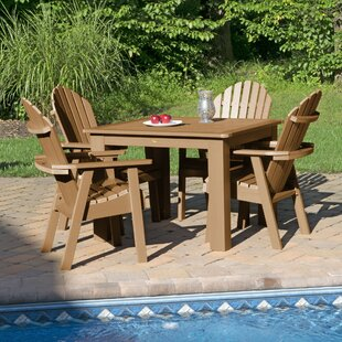 Amelia 5 Piece Dining Set By Three Posts