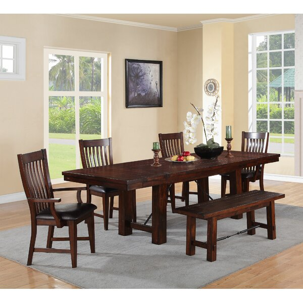 Seiling 6 Piece Extendable Solid Wood Dining Set by Loon Peak