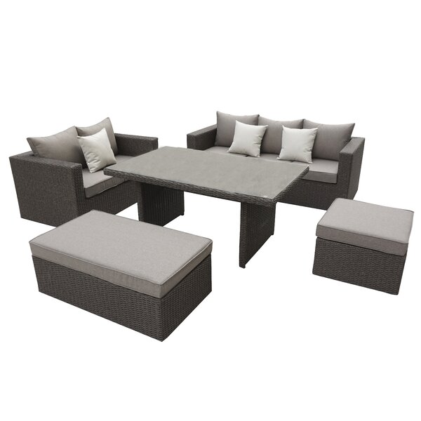 Brinkley 5 Piece SofaSet with Cushions by Willa Arlo Interiors