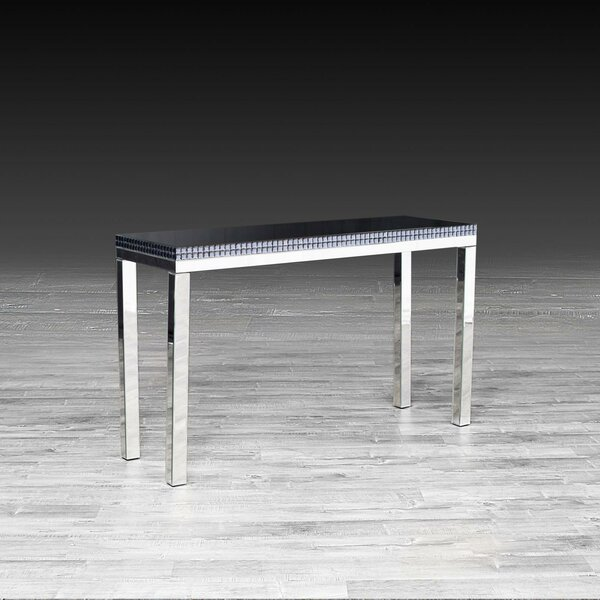Madalena Mirrored Console Table by Everly Quinn Everly Quinn