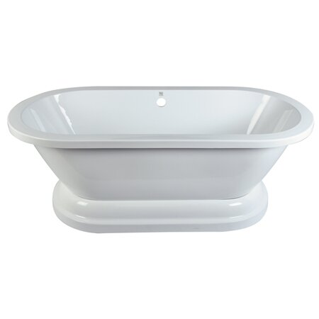 Aqua Eden 32 x 67 Freestanding Soaking Bathtub by Kingston Brass