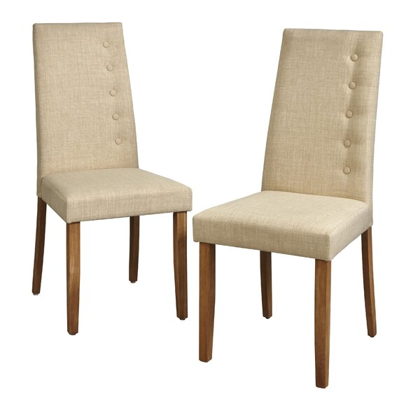 Langner Upholstered Dining Chair (Set of 2) by Charlton Home