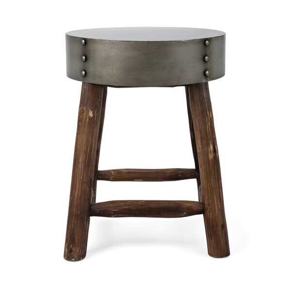 Jefferson Metal Top Accent Stool by Williston Forge