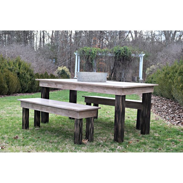 Zapate 3 Piece Solid Wood Breakfast nook Dining Set by Gracie Oaks