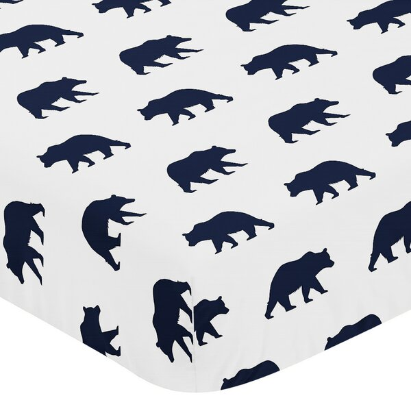 Big Bear Fitted Crib Sheet by Sweet Jojo Designs