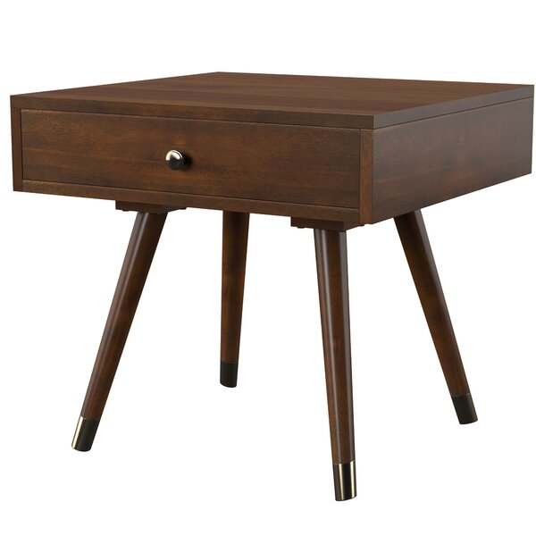 Levinson End Table with Storage by Mercury Row