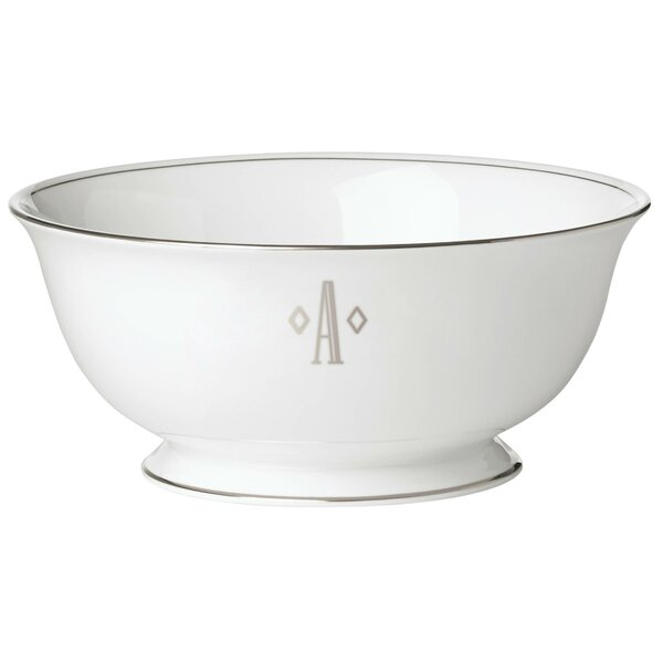 Federal Platinum Monogram Block Serving Bowl by Lenox