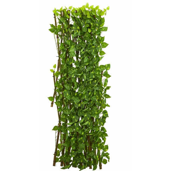 4 ft. H x 4 ft. W Pothos Expandable Fence Panel by Nearly Natural